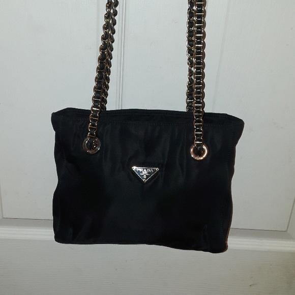 ffd532c9d551 Prada vintage Authentic nylon double chain purse. M_5b3c3591819e9088fae42c83